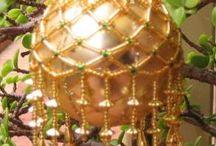 Mom's beaded ornaments