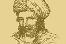 Abu Nawas the genius / The greatest Arab Poet of his time. He was born as Ahwaz of an Iranian mother and his father was a native of Damascus. He was the court poet of both Khalifa Harun al Rashid and his son Al Amin. Born c.756-813. his genius of songs probably found its best expression in the Kham riyat a collection of songs about wine, love and music.