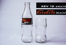 COCACOLA DRINKING GLASS / A tutorial of how to make a fancy coke drinking glass from empty glass coke bottle #coke #cocacola #recycle #upcycle #bottlecutting #bottlecrafts #glasscrafts #reart #retrash