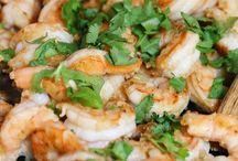 dinner sea food (shellfish)
