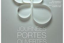 affiches JPO la Tourrache / affiches des précédentes Journées portes ouvertes réalisées par les étudiants et anciens étudiants de la Tourrache (affiches diffusées et projets)