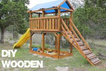 DIY outdoor play forts