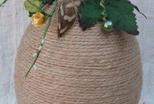 jajko zdobione sznurkiem
