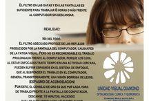 Salud Visual / Sobre la vista y la salud de sus ojos. / by Cynthia Cunillera Batlle