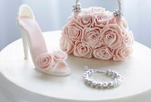 Beautiful shoes and handbags cake