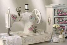 shabby chic sewing rooms