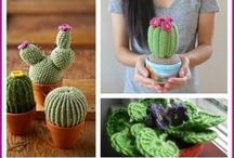 Cacti & Succulents / Lots of gorgeous Cacti & Succulent DIY's & Patterns