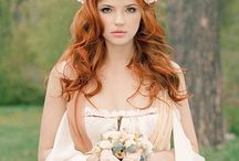 Hair wedding red
