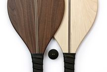 Velce Wooden Racquets / Bouncing a ball to and fro with Velce's Racquets one finds a playful form of movement.