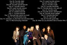 Doctor Who Challenge / Sorry, I'll be skipping out on some of these. Either because I don't know the answer to it, or I just haven't gotten to that specific part.