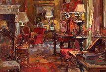 wnętrze w malarstwie