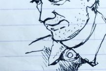 my work Face of a leave campaigner #pen #sketch #draw365 #indieArtBlast #drawing