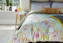 Meadow Grass / Based around the Meadow Grass and Backing Cloth bed linen designs, the AW16 collection combines the modern storm grey backdrops, and bright multi prints.