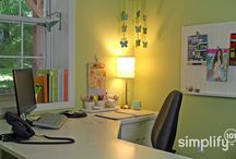 Office Org Ideas / You don't need to learn all of the jargon behind Lean Office.  You care about time management, improving productivity, etc.  Just look at the pictures and check out my tips to improve efficiency in your own space. #messydesk / by ManufacturingAdvances.com
