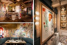 street art in commecial interiors / #StreetArt has infiltrated the interiors of technology companies in a way that transforms and reinforces culture and creativity.