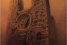 The painter - Beksiński