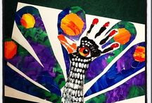 Hand and Footprint Art / Art for the Classroom