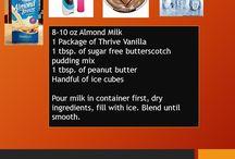 Le-Vel Thrive Shake Recipes
