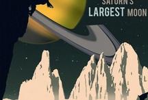 Retro SCI-FI travel posters