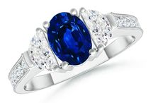 Top Sapphire Three Stone Rings