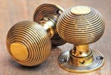 Grace & Glory - Our Door Knobs / Beautiful solid brass, nickel or wood top quality door knobs.