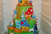 smurf cakes