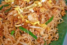 All kind of fried noodles and rice vermicelli