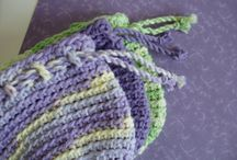Our Shop: Crocheted Drawstring Bags