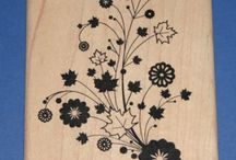 Flower Power Rubber Stamps