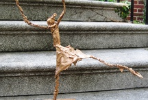 Giacometti Inspired Sculptures / teaching art
