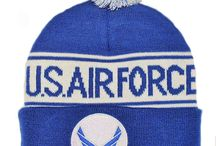 Knit Military Beanie Hats / A great American MADE - gift for yourself, friend or loved one is one of these knit beanie Pom hats and caps.  Choose from Army, Navy, Air Force, Marines or other watch style caps.