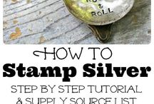How to Stamp Silver Jewelry / Stamping and Wrapping