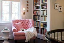 Read Here / How could you not read your library books if you had a space like this?