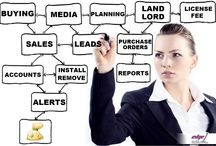 Edge1 integrates all your business processes.. / Edge1 Outdoor Media Management Software integrates- Buying, Planning, Landlord, #Sales, Purchase Orders, Accounts, Reports, Alerts and much more.