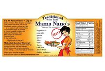 Get More Vegetables-Eat Mama Nano's / Learn about the line of sauces and buy local today! Order on-line at www.mamananos.com Or check for a store near you!
