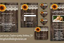 Sunflower Wedding Invitations / Sunflower Wedding Invitations