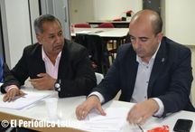 Reunión del candidato socialista Ernesto Carrión con lideres