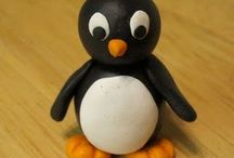 foam clay Pinguin