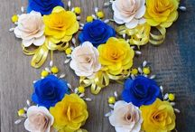 wedding blue and yellow