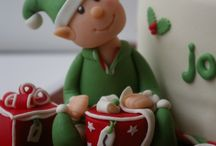 Christmas decorations for cakes