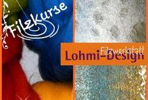 fusslige Veranstaltungen / Filzkurse, offene Werkstatttürtage, Märkte