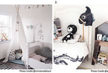 Børneværelse - nordisk / Inspiration til indretning af børneværelse med sjæl og personlighed. Her er der valgt billeder, som med afdæmpede farver.