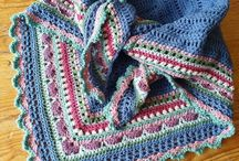 SHAWLS, knitted and Crocheted