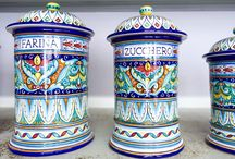 Italian Ceramics / Hand painted, from artisans in De Ruta, Vietri, Sicily, Orvieto and other spots