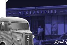Notre Histoire / Depuis près de 100 ans Messageries des Champs Elysées assure le transport de marchandises en France et dans le monde. Quelques images pour rappeler la genèse de l'entreprise.