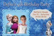 Frozen Party Invitation Card / Frozen Party Invitation Card Editable Pritable 7 x 5 inches