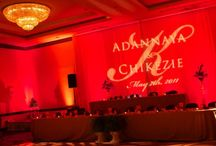 red uplighting / examples of red uplighting for events / by Superlative Events
