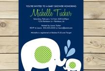 EF Baby Shower Ideas / Navy blue & green themed baby shower / by JoVena Albin Sumner