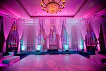 Wedding Reception / Music, Lighting, Colors, Floral, place settings