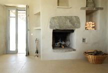 fireplace details - Terra Villa in Tinos island